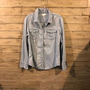 Anthropologie Lucy & Laurel chambray top